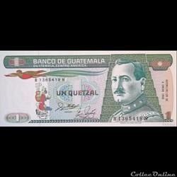 GUATEMALA - P 66 (07)  - 1 QUETZAL - 1988