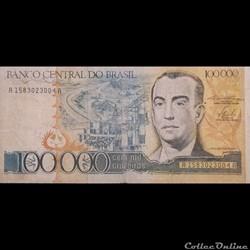 BRESIL - P 205 - 100.000 CRUZEIROS - 198...