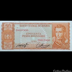BOLIVIE - P 162 A (20) - 50 PESOS BOLIVI...