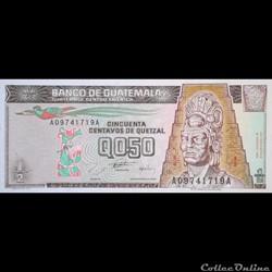 GUATEMALA - P 96 A  - 0,50 CENTAVOS DE QUETZAL - 1996