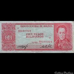 BOLIVIE - P 163 A (19) - 100 PESOS BOLIV...
