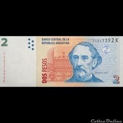ARGENTINE - P 352 (10) - 2 PESOS - 2002