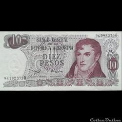 ARGENTINE - P 300 - 10 PESOS - 1976