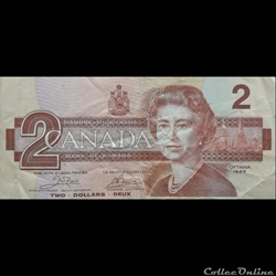CANADA - P 094 A - 2 DOLLARS - 1986