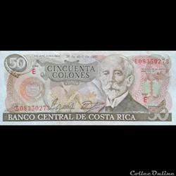 COSTA RICA - P 253 B - 50 COLONES - 1988