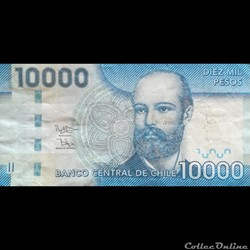 CHILI - P 164 E - 10.000 PESOS - 2014