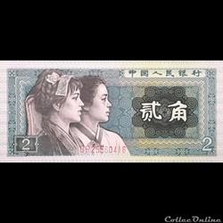 CHINE - P 882 - 2 JIAO - 1980