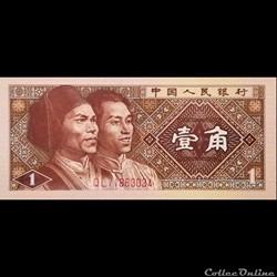 CHINE - P 881 - 1 JIAO - 1980