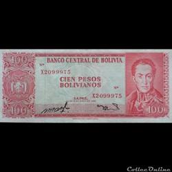 BOLIVIE - P 163 A (16) - 100 PESOS BOLIV...