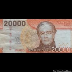 CHILI - P 165 G - 20.000 PESOS - 2016