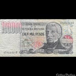 ARGENTINE - P 308 B - 100.000 PESOS - 1983
