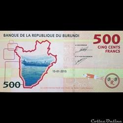 BURUNDI - P 50 - 500 FRANCS 2015