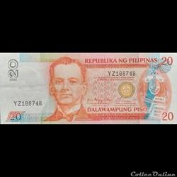 PHILIPPINES - P 182 H - 20 PISO - 2002