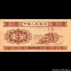 CHINE - P 860 C - 1 FEN - 1953