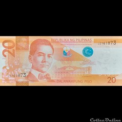 PHILIPPINES - P 206 B - 20 PISO - 2012