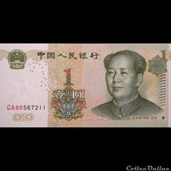 CHINE - P 895 A - 1 YUAN - 1999