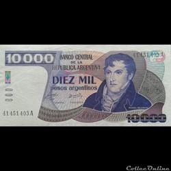 ARGENTINE - P 319 - 10.000 PESOS - 1985