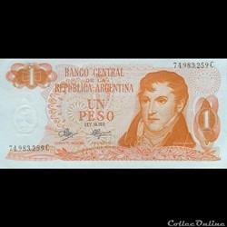 ARGENTINE - P 287 (3) - 1 PESO - 1970-73