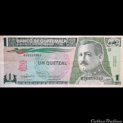 GUATEMALA - P 73 C - 1 QUETZAL - 1992