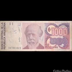 ARGENTINE - P 329 (3) - 1000 AUSTRALES - 1989