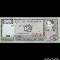 BOLIVIE - P 167 A (3) - 1000 PESOS BOLIV...