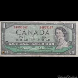 CANADA - P 074 B - 1 DOLLAR - 1954