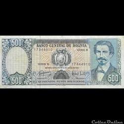 BOLIVIE - P 166 - 500 PESOS BOLIVIANOS -...