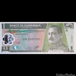 GUATEMALA - P 115 C - 1 QUETZAL - 2012