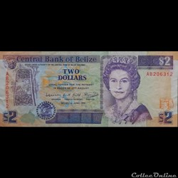 BELIZE - P 052 B - 2 DOLLARS - 1991