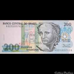 BRESIL - P 229 - 200 CRUZEIROS - 1990