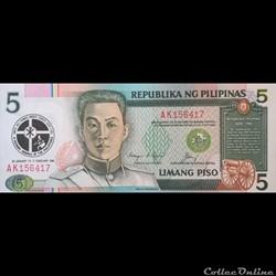 PHILIPPINES - P 179 - 5 PISO - 1991