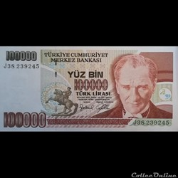 TURQUIE - P 206 - 100.000 LIRA - 1997