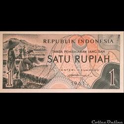 INDONESIE - P 78 - 1 RUPIAH - 1961