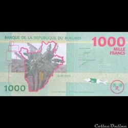 BURUNDI - P 51 - 1000 FRANCS 2015