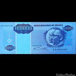 ANGOLA - P 139 - 100 000 KWANZAS - 1995