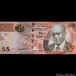 BAHAMAS - P 072A - 5 DOLLARS - 2013