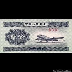 CHINE - P 861 B - 2 FEN - 1953