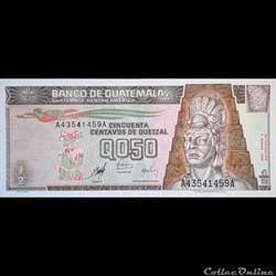 GUATEMALA - P 98  - 0,50 CENTAVOS DE QUETZAL - 1998