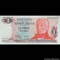 ARGENTINE - P 311 A (2/2) - 1 PESO - 1984