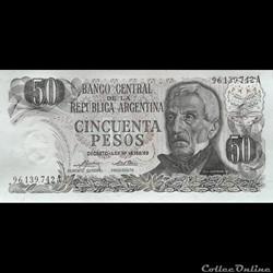 ARGENTINE - P 296 (2) - 50 PESOS - 1975