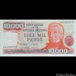 ARGENTINE - P 306 D - 10.000 PESOS - 1983