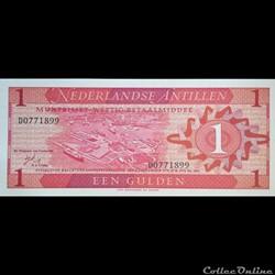 ANTILLES NEERLANDAISES - P 020 - 1 GULDE...