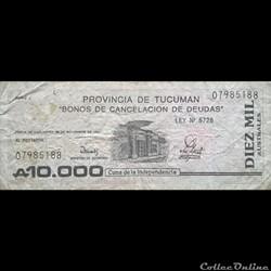 ARGENTINE - P S 2718 - 10.000 AUSTRALES ...