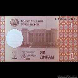 TADJIKISTAN - P 10 - 1 DIRAM - 1999