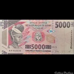 GUINEE - P 49 - 5000 FRANCS - 2015
