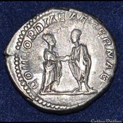 monnaie antique romaine plautille et caracalla denier