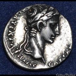 Auguste  (16/01/27 avant J.-C. - 19/08/14 après J.-C.) Caius Julius Cæsar Augustus
