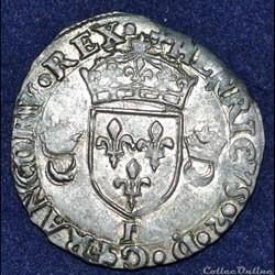 CHARLES IX monnayage au nom de HENRI II