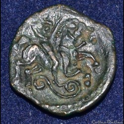 CARNUTES (Région de la Beauce) Bronze PIXTILOS classe VII au cavalier