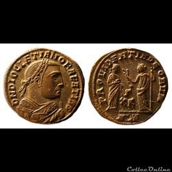 Dioclétien / Alexandrie / Follis Post-abdication / RIC 80 var.